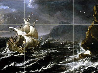 Art Marine Sailboat Ocean Ceramic Mural Backsplash Bath Tile #2230