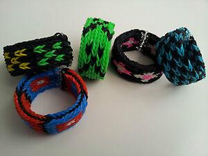 Rainbow Loom Rubber Band Bracelet - 5 row fishtail | eBay