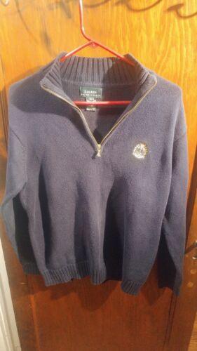 Vintage Lauren Ralph Lauren Navy Crest Sweater Lik