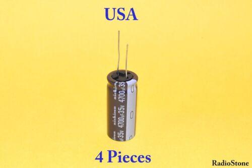 Capacitors Nichicon PW M 4700uF 35v 105C 18x40mm 4 Pieces USA Seller!!