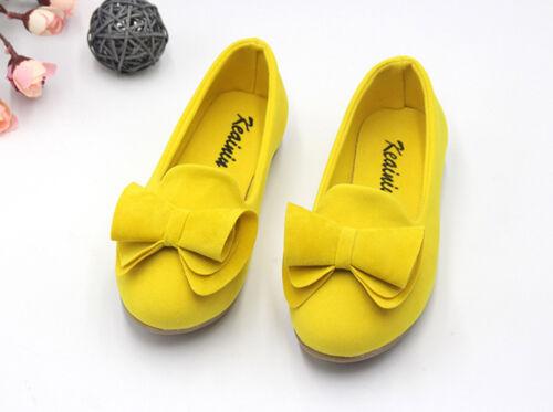 Kids Girls Casual Coral Velvet Vamp Bow-knot Slip On Pumps Princess Dress Shoes