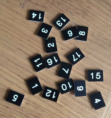 numbers 20mm Engraved 15mm