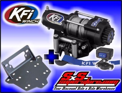 2500 lb KFI Steel Winch /& Mount Kit Combo Can-Am 2013-2016 Maverick 1000 R Turbo