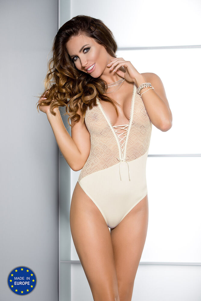 Body Beige Stringbody Transparent Femmes Lingerie Lingerie Sexy 34 36 38 40