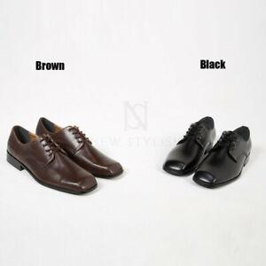 NewStylish-Mens-Fashion-Square-toe-lace-up-shoes