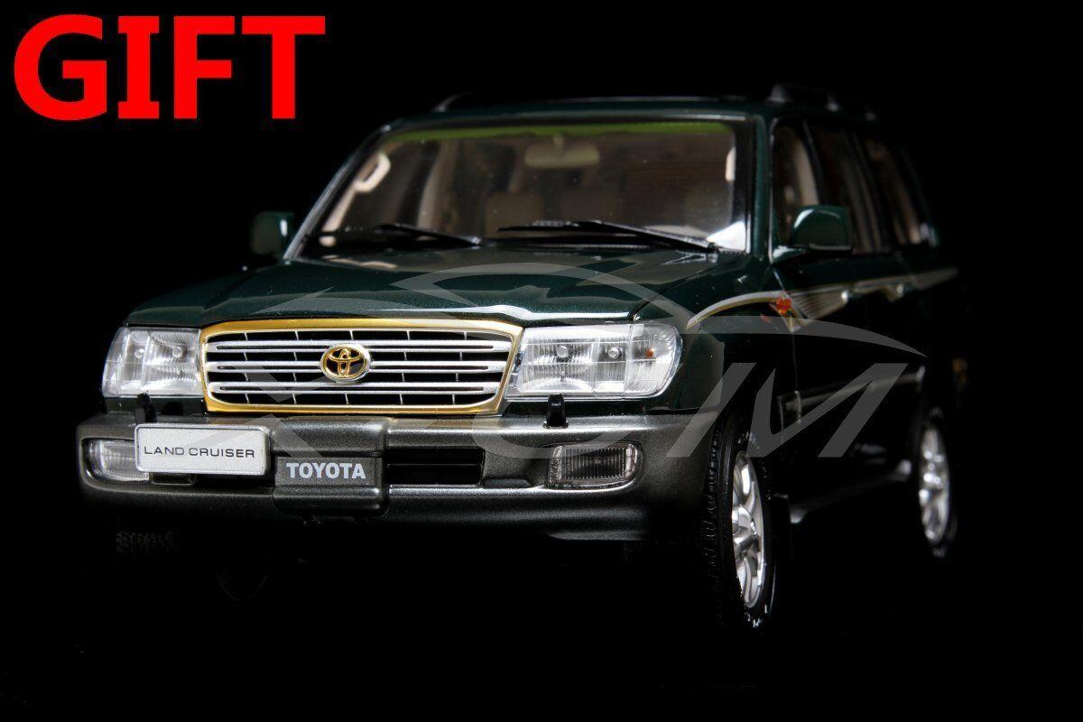 Modèle De Voiture Toyota Land Cruiser LC100 1 18 (vert) + petit eau