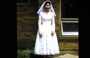 LOT OF 13 VINTAGE 1956 WEDDING PHOTOGRAPHY SLIDES IMAGES NIAGARA FALLS BRIDE