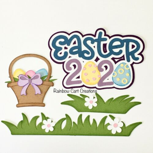 Easter 2020 Pandemic Gray Rabbit Pre-Made Die Cuts Embellishments Scrapbooking