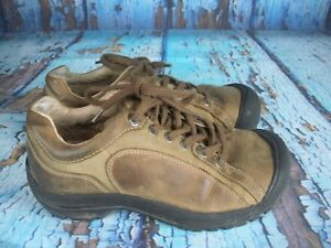 KEEN-Brown-Leather-Comfort-Sneakers-Shoes-Women-039-s-Size-7-5