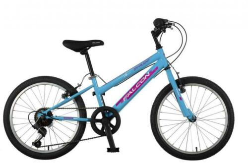 "Falcon Starlight 20/"" Kids Girl Rigid Mountain Bike Outdoor Bicycle 6Spd 2019 BLU"