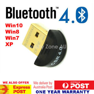 Mini USB Bluetooth V4.0 Dongle Wireless Adapter Round PC Laptop 3Mbps Speed