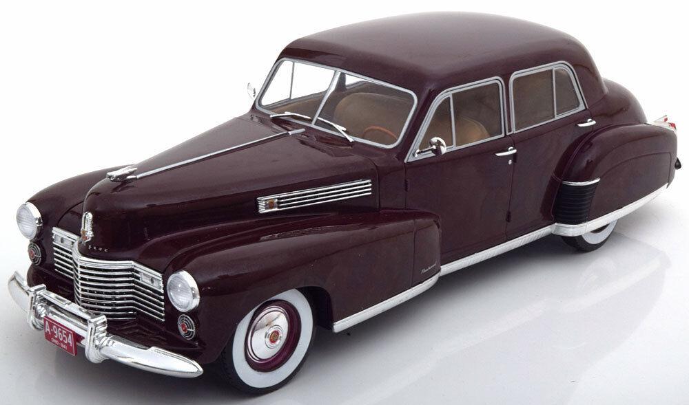 Mcg 1941 illac Fleetwood Série 60 Spécial Berline Foncé Rouge 1 18