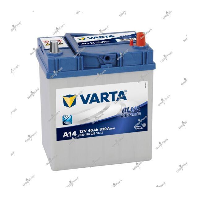 Batterie blau Varta A14 12V 40ah 330A 540126033 187x140x227mm