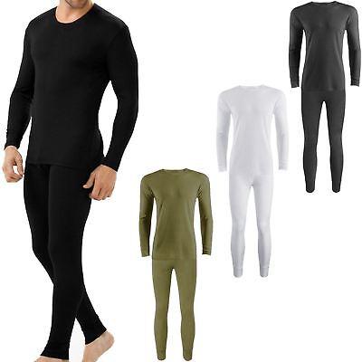 Mens Full Set Thermal Underwear Long Sleeve Shirt Vest Top & Long Johns Trousers