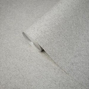 Vinyl-non-woven-gray-textured-Wallpaper-faux-fabric-textures-plain-wallcoverings