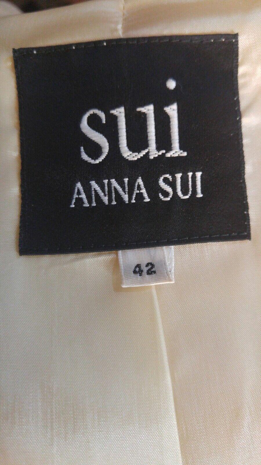 ANNA SUI 90s Vintage Wool Jacket M $550 - image 8