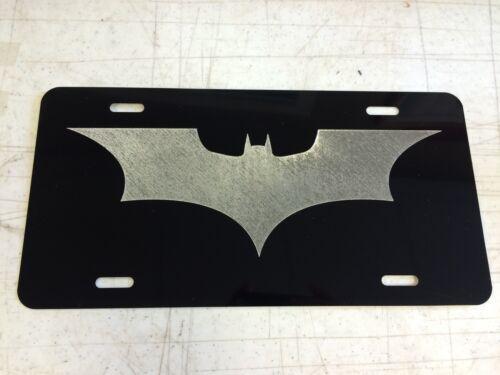 BATMAN BEGINS LOGO Car Tag Diamond Etched on Aluminum License Plate