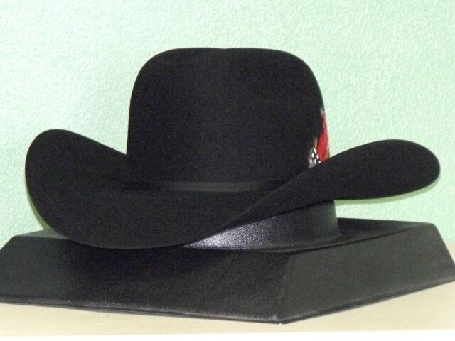 Stetson Roper 4x Beaver Fur Felt Hat Black Size 7 1 2 (60) Made in USA EUC 196f1b4260fc