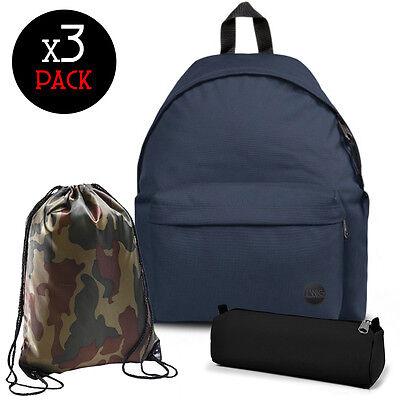 TWIG SCHOOL PACK zaino + sacca + astuccio/occhiali da sole/powerbank