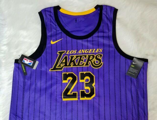Nike Los Angeles Lakers Lebron James City Edition Swingman Jersey 60 3xl
