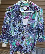 Women's Multi-Colored Striped Shirt by CJ Banks; Size:  X