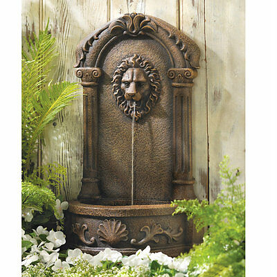 Majestic Lion Outdoor Wall Fountain Ebay