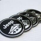 4x Jeep 4x4 Wheel Center Hub Caps Emblem Badge Decal Symbol Sticker Sport New