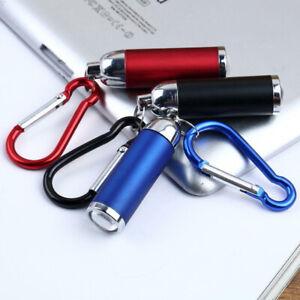 Mini LED Torch Flashlight Camping Small Compact Keyring Carabiner Keychain