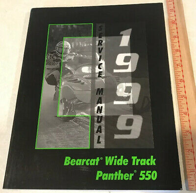 1999 Arctic Cat Bearcat Wide Track Panther 550 Service Repair Shop Manual OEM