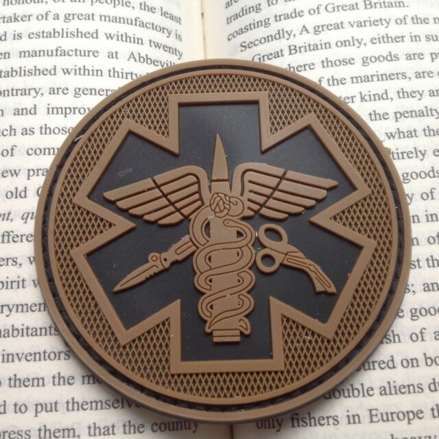 3d Spartan Medic Tactical Embroidered Military Emt Morale Badge Home & Garden Apparel Sewing & Fabric