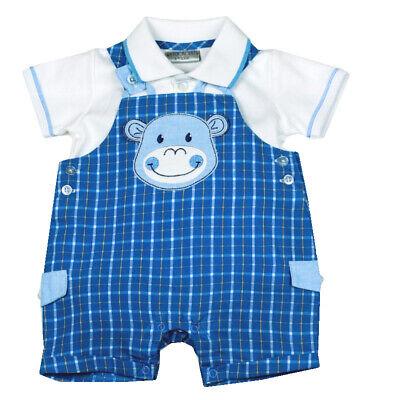 GüNstiger Verkauf Watch Me Grow Spieler/shirt & Hose **monkey** Gr.62-80 Weiß/blau England Neu äRger LöSchen Und Durst LöSchen