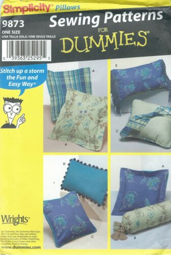 Simplicity 9873 Pillows  Sewing Pattern