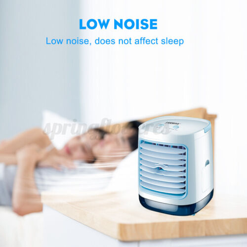 Mini Air Conditioner Fans Personal LED Cooling Fans Humidifier Purifier Hom