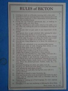 POSTCARD DEVON RULES OF BICTON - Tadley, United Kingdom - POSTCARD DEVON RULES OF BICTON - Tadley, United Kingdom