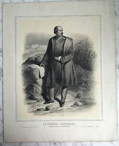 XIX Gravur Der General Canrobert Lecomte Verlag