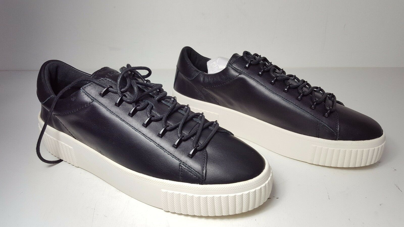 130 Taille 10 KENDALL and KYLIE Reese   noir  Reese Leather Sneakers femmes Chaussures  NEW eace28