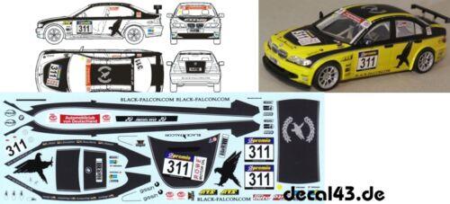 """1//43 Decal BMW 320d /""""Black Falcon/"""" VLN 2010"""