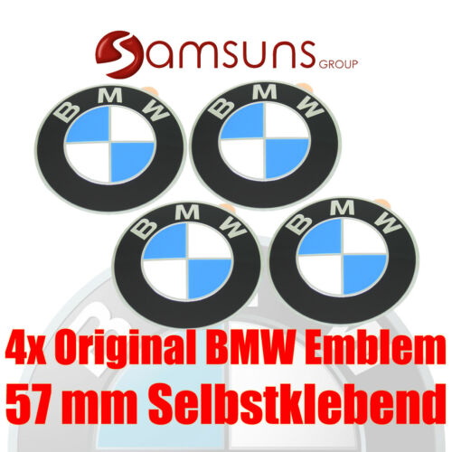 4x Original BMW Logo Wheel Hubs Emblem 2 1//4in Badge Rim Emblem Adhesive