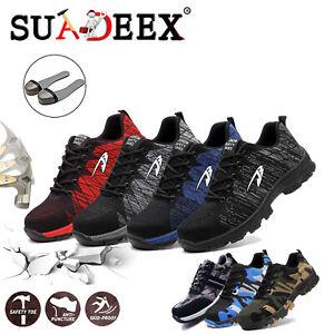 Scarpe-antinfortunistica-Uomo-S3-Scarpe-da-lavoro-antiscivolo-Sneakers-leggere
