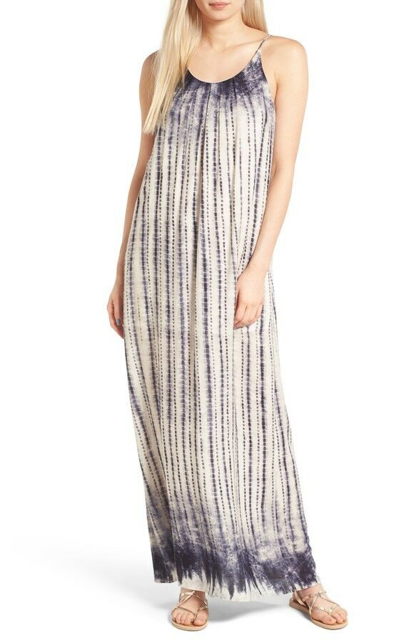 One Clothing Print Maxi Dress bluee Tie Dye sz XS