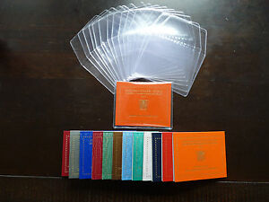 20 x pochette plastique de protection 2 Euro Commémorative vatican 2004 à 2021