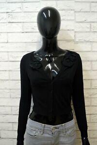 MOSCHINO-Donna-38-Maglione-Felpa-Pullover-Sweater-Cardigan-Woman-Slim-Cashmere
