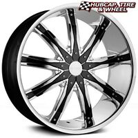 Dcenti Dw29 Chrome W/ Black Inserts 24x9.5 Wheels Fits 03-2016 Ford Expedition