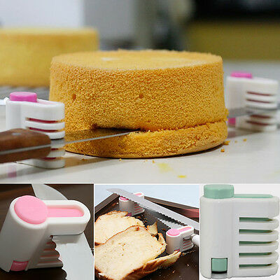 1Pair Kitchen Tool Cake Cutter Leveler 5 Layer Slicer Cutting Fixator DIY New