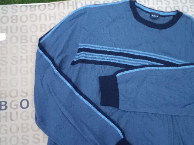 NUOVA Hugo Boss Da Uomo Girocollo Grigio Suit Suit Suit Camicia Jeans Cardigan Pullover Maglione Pullover 7a52a1