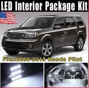 pcs white led interior light bulb package deal kit    honda pilot  ebay