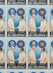 Hang-on-Wall-Philippines-Year-1960-Scott-823-24-MNH-Sheet-of-50-Stamps-x-2