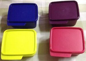 Tupperware Keep Tabs Small Set of 4-500ml each in 4 different colors-New