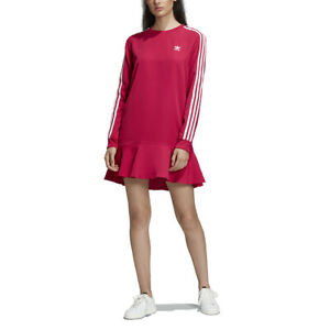 Adidas-Women-039-s-Originals-Pride-Pink-Dress-DV0856-NEW