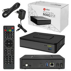 Details about MAG 351 Set Top Box IPTV Linux 4K UHD Builtin Wifi Bluetooth  MAG351